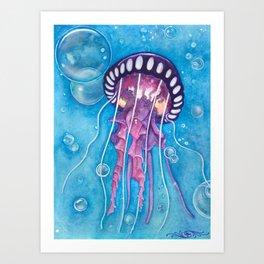 Deep Sea Medusa Art Print