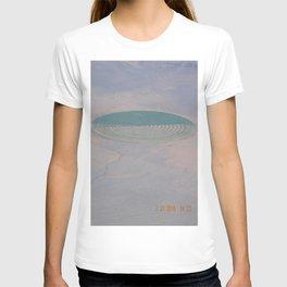 road trip, crop circle, landscape, farming, DUII Alien field art T-shirt