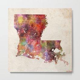 louisiana map warm colors Metal Print
