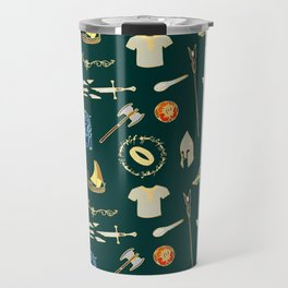 Lord of the pattern green Travel Mug