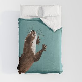 Asian small-clawed otter Cadet blue Comforters