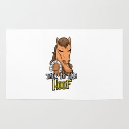 Talk To The Hoof   Funny Horse Saying Gift Rug