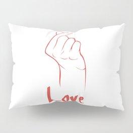 "Hangul ""i love you"" Pillow Sham"