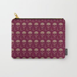Specter and Spook's Skull Menagerie- Dusty Rose Carry-All Pouch