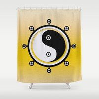 yin yang Shower Curtains featuring Yin yang by Nir P