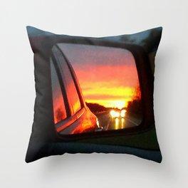 Mirror Sunset Throw Pillow