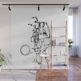 the trumpeter Wall Mural