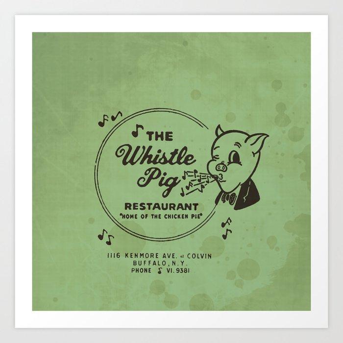 Whistle Pig Restaurant Art Print