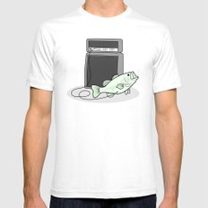 I PLAY BASS Mens Fitted Tee White SMALL