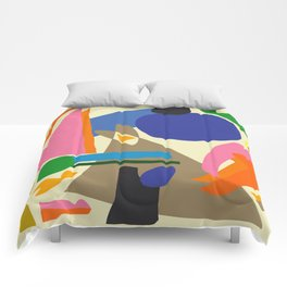 Abstract morning Comforters
