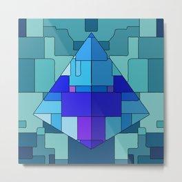 Trippy Pyramid Metal Print