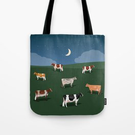 Night on the Hillside Tote Bag