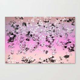 Unicorn Girls Glitter Stars #8 #shiny #decor #art #society6 Canvas Print