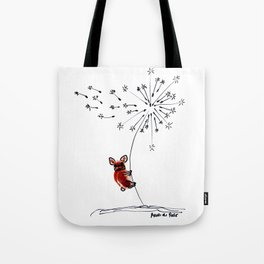 Hold on my Bouboule, french bulldog art by BoubouleArt Tote Bag