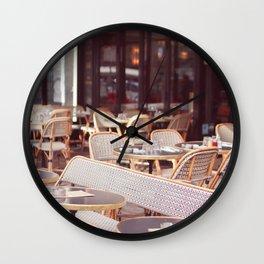Parisian coffee Wall Clock