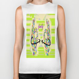 American Sign Language FAMILY Biker Tank