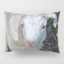 White Baby Goat Pillow Sham