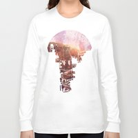 kids Long Sleeve T-shirts featuring Secret Streets by David Fleck