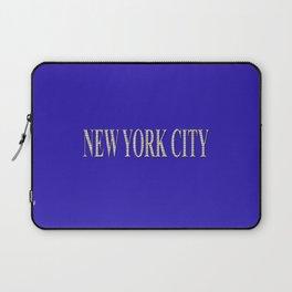 New York City (type in type on blue) Laptop Sleeve