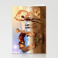 africa Stationery Cards featuring Africa by teddynash