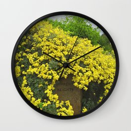 Sorrento Heights (Floral) Wall Clock