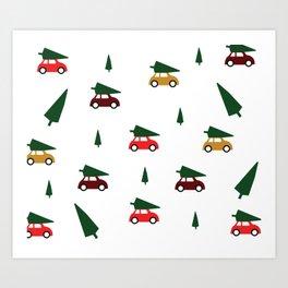 Christmas Tree Shopping Art Print