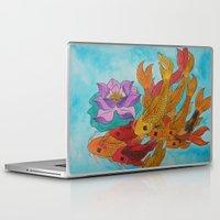 koi fish Laptop & iPad Skins featuring Koi Fish by DaeChristine