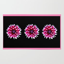 Dahlia in pink, red Rug