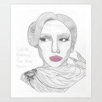 Glamour Vamp. Art Print