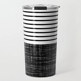 platno (black stripes) Travel Mug
