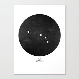 Aries Zodiac Constellation Art Print Canvas Print