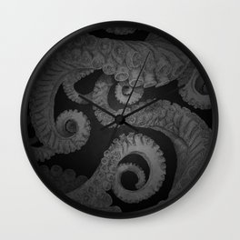 Octopus BW. Wall Clock