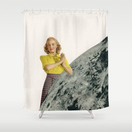 He Gave Her The Moon Shower Curtain