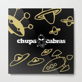 CHUPACABRAS - Gold & Black Edition Metal Print