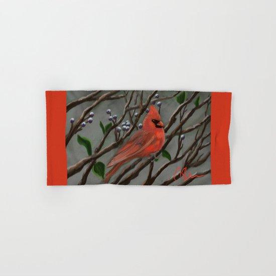 Male Cardinal DP151210a-14 Hand & Bath Towel