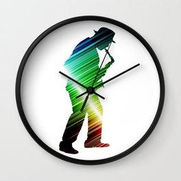 Saxophone player 03 Wall Clock