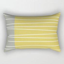 MId century modern textured stripes Rectangular Pillow