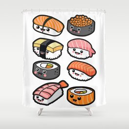 Sushi family Shower Curtain