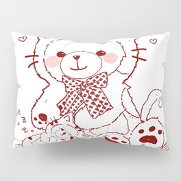 The Adventures of Bear and Baby Bear-Cats Pillow Sham