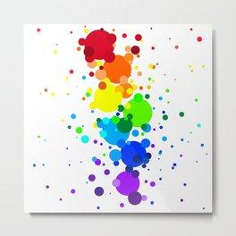 Circles Rainbow Metal Print