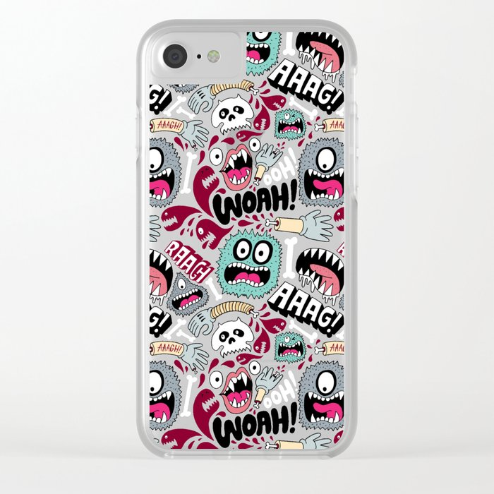 AAAGHHH! PATTERN! Clear iPhone Case