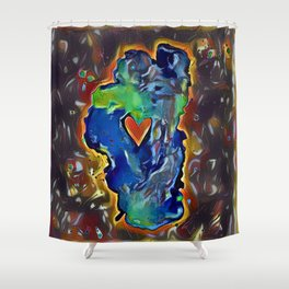 Rock Solid Love Shower Curtain