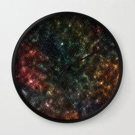 Night Sky Artwork Wall Clock