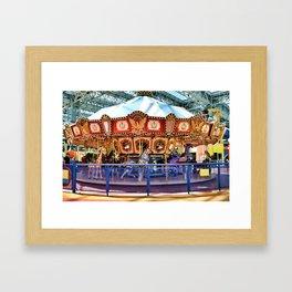 Carousel inside the Mall Framed Art Print