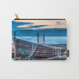 Old fishing boat with net Carry-All Pouch