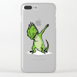 Funny Dabbing Iguana Reptile Dab Dance Clear iPhone Case