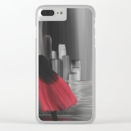 Girl With A Red Cape Clear iPhone Case