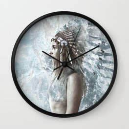 feather and the sea Wall Clock