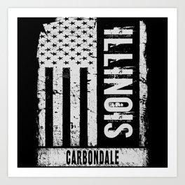 Carbondale Illinois Art Print