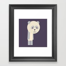 Letter P // Animal Alphabet // Panda Framed Art Print